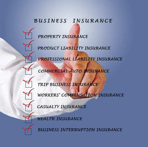 Types of business insurance policies